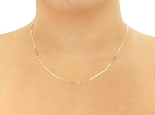 cordao corrente feminina linda 45 cm banhada a ouro 18 k