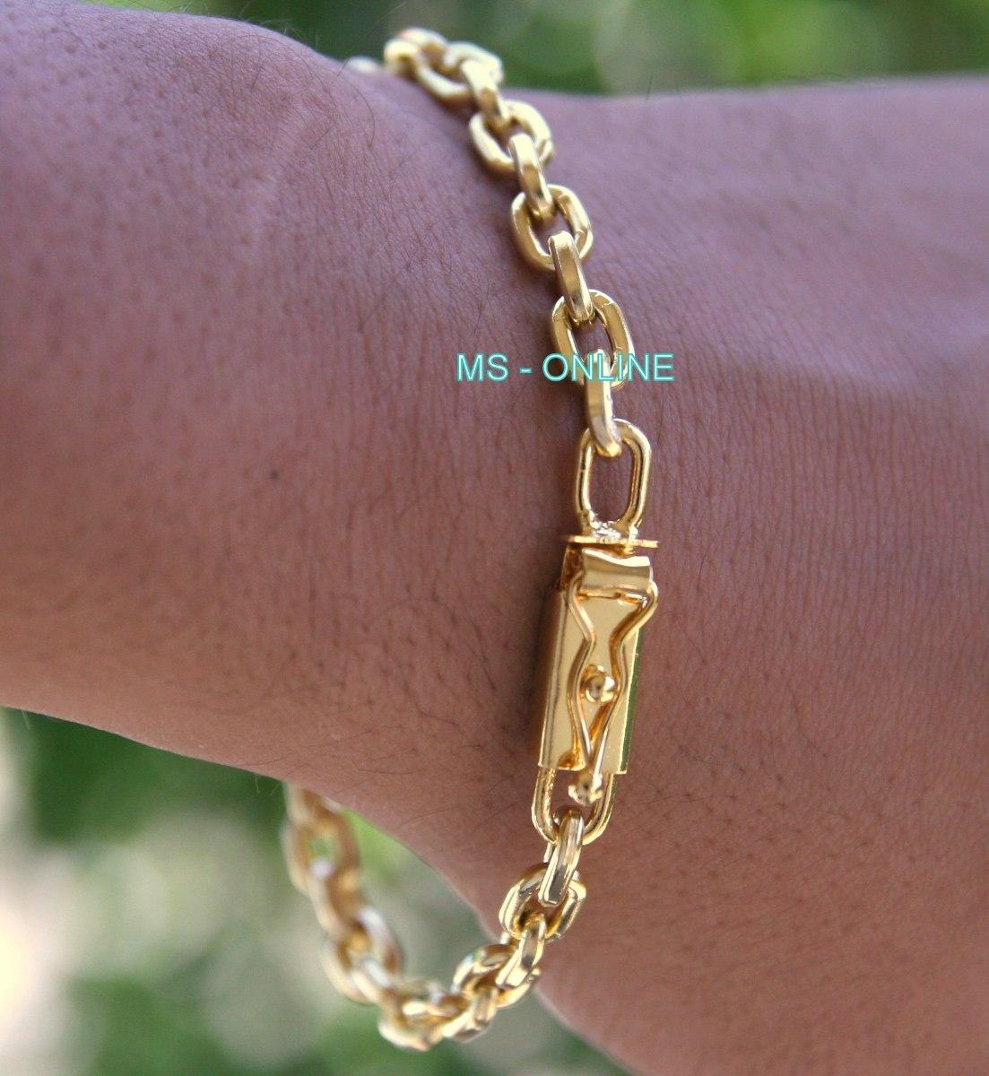 0b29197dfac8b cordao corrente masculina 6mm com pulseira banhado ouro 18k. Carregando  zoom.