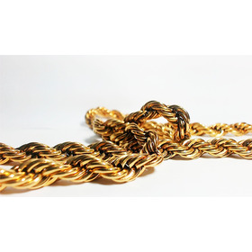 Cordão Masculino De Ouro Aço Cirúrgico  Trançada