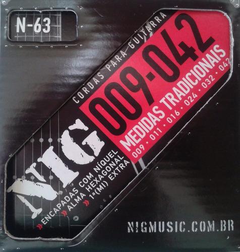 cordas nig para guitarra - n63 .009  - .042
