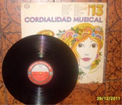 cordialidad musical vol. 13, vinilo original...