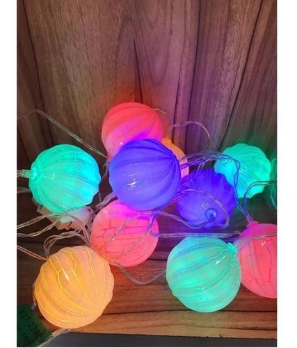 Cordão 10 Bolas Leds Colorida Luxo Decoração Bivolt - R$ 29,99 em Mercado  Livre