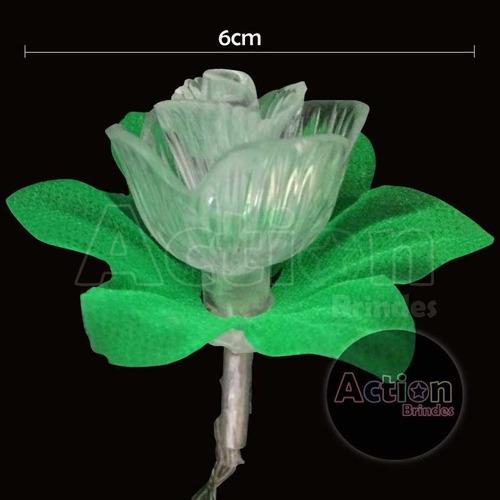 cordão 20 rosas led pisca-pisca colorido 110v