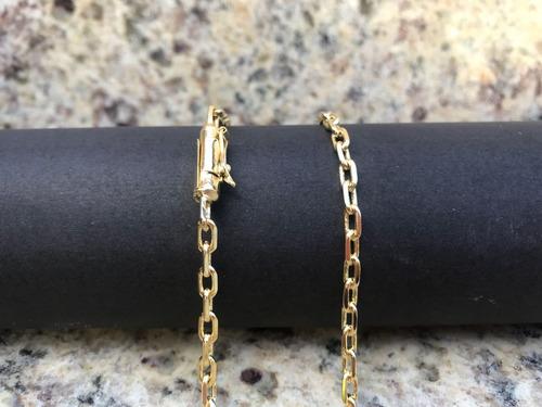cordão 4mm  folheado a ouro 18k  fecho gaveta