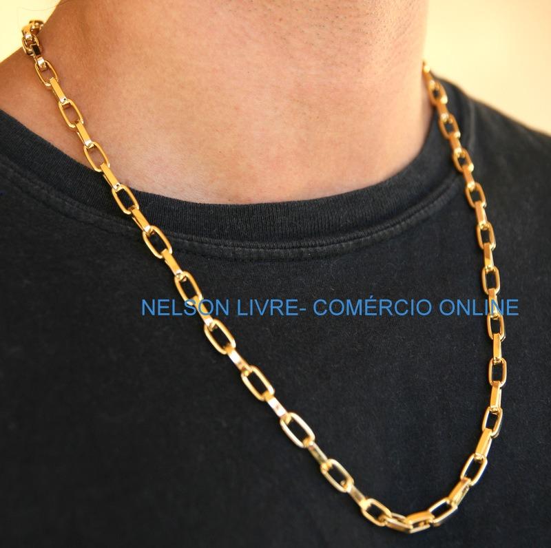 6ed7a55f70b Cordão 70cm Banhado A Ouro 18k - Super Promoção - R  94