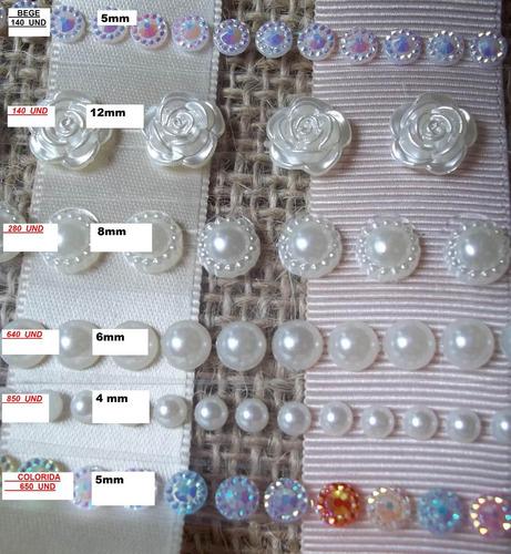 cordão adesivo meia perola aplike em 2-cartelas adesivas-