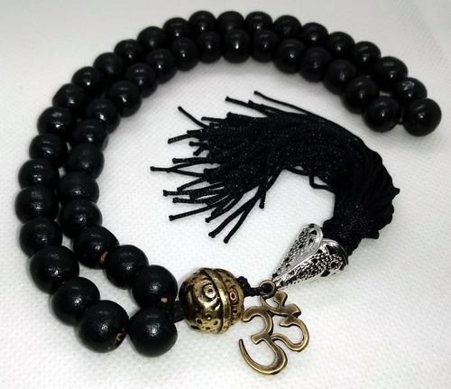 cordão agesta madeira preta 10mm símbolo om - com saquinho