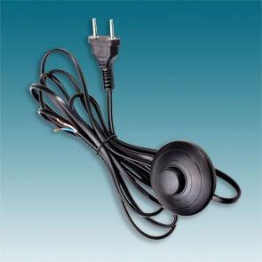 cordão c/ interruptor piso branco ou preto 100 / 200cm