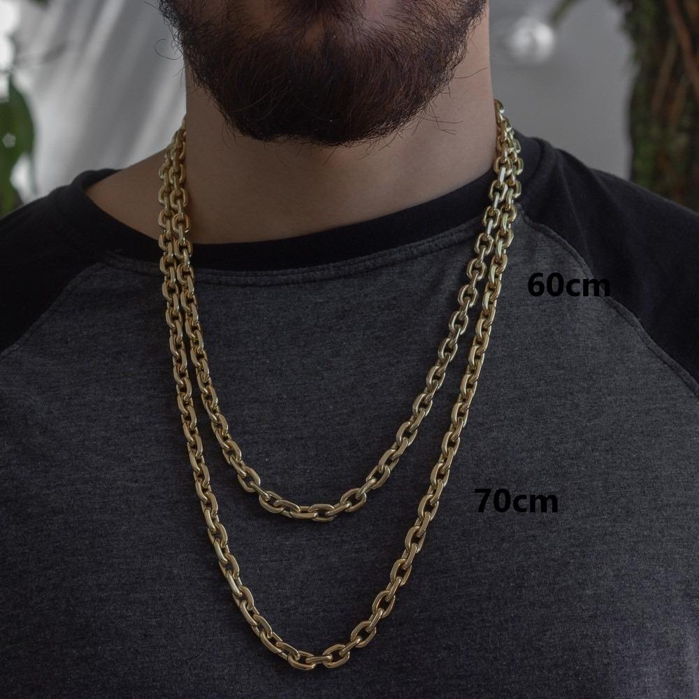 6d2b0feaa4e Cordão Cadeado Cartier 7mm 60cm Banhado A Ouro 18k - R  259