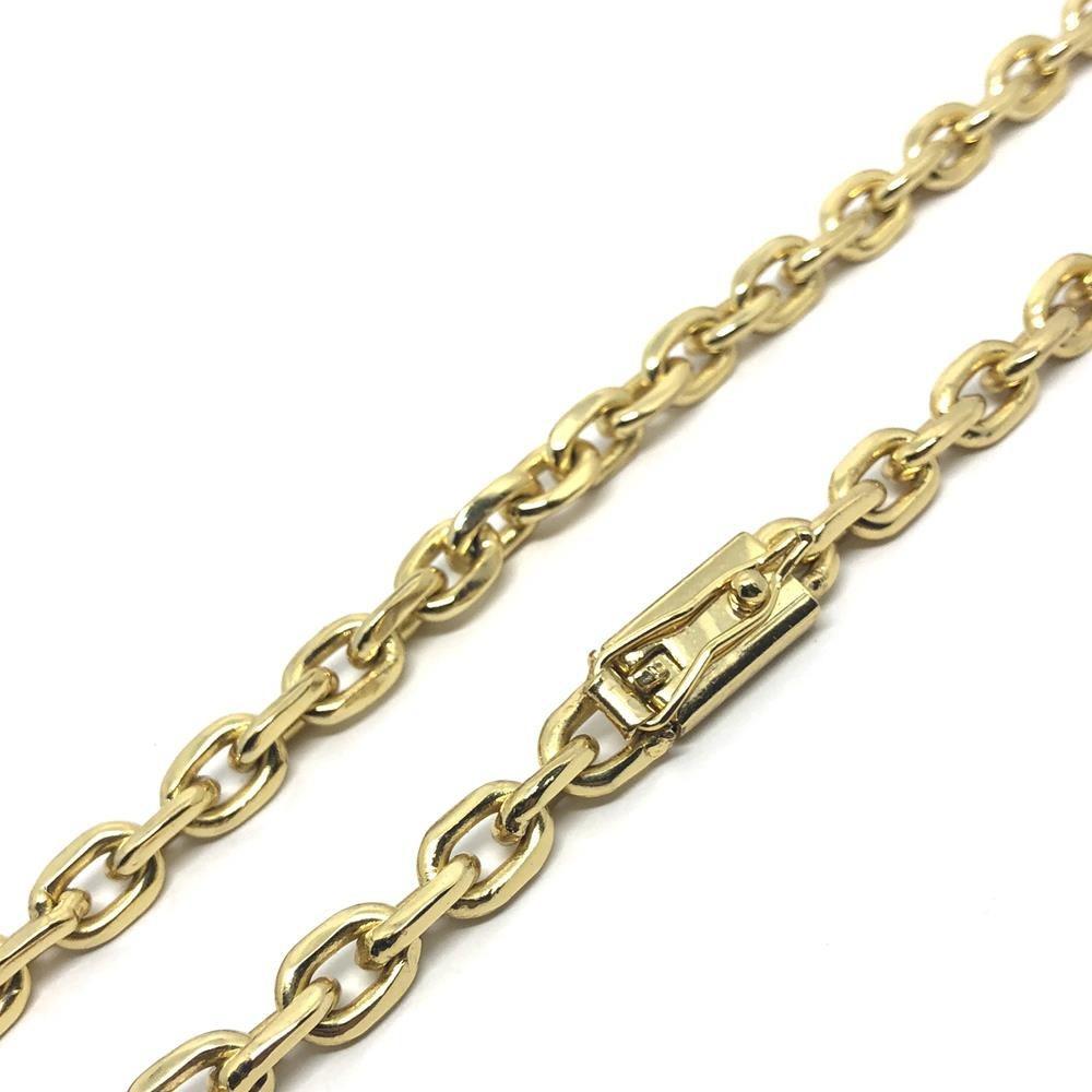 bfc16c37246 cordão cadeado cartier 7mm 60cm banhado a ouro 18k. Carregando zoom.