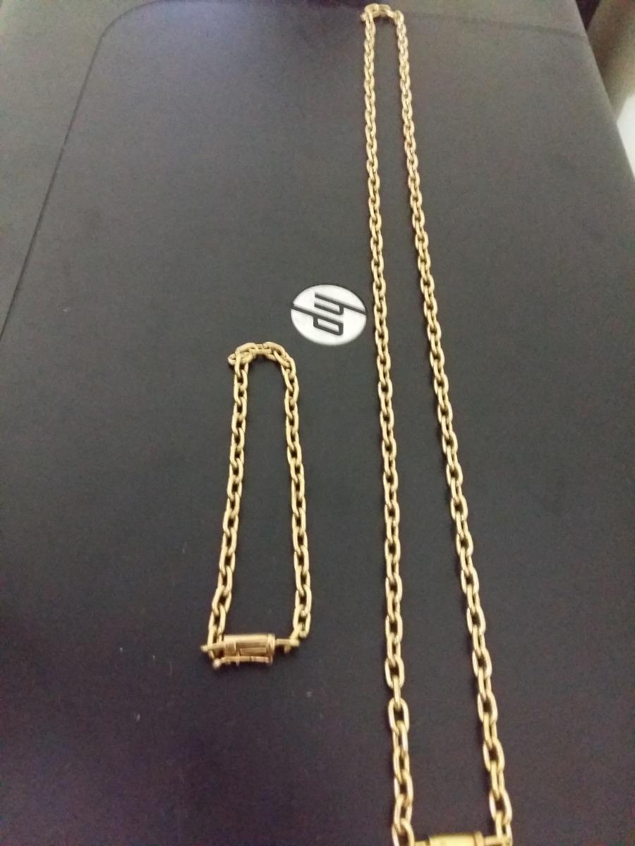 408c2459585 cordão cadeado + pulseira de moedas antiga 3mm. Carregando zoom.