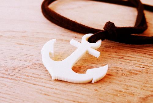 cordão camurça âncora white