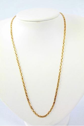 cordão cartier ( cadeado) oco . em ouro 18 kl 750.