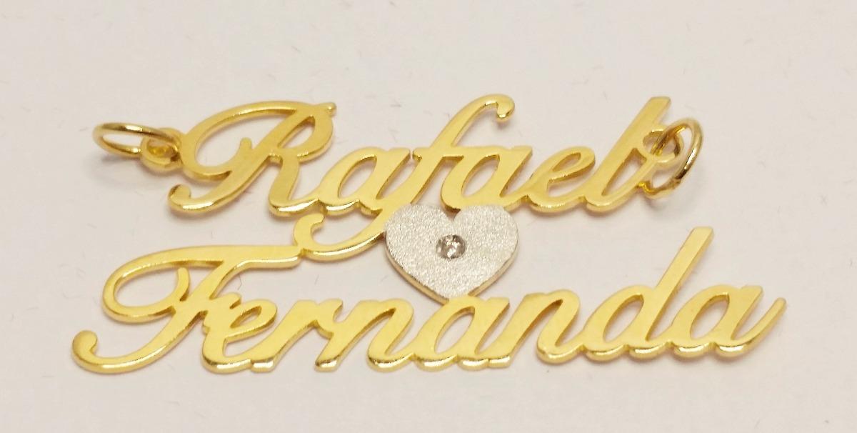 Cordão - Colar Com Nome Personalizado Banhado A Ouro 18k - R  74,90 ... c8187aa848