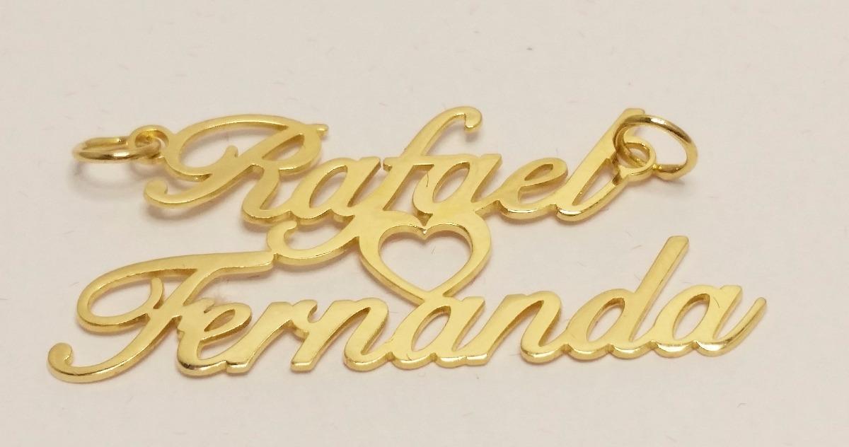 cordão - colar com nome personalizado banhado a ouro 18k. Carregando zoom. 7ae7bdb559