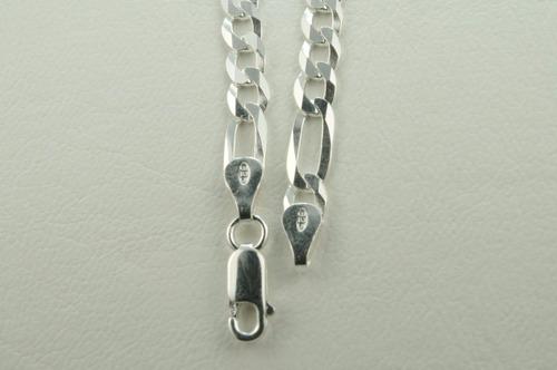 cordão corrente 3 em 1 5.5mm em prata 925 frete-grátis