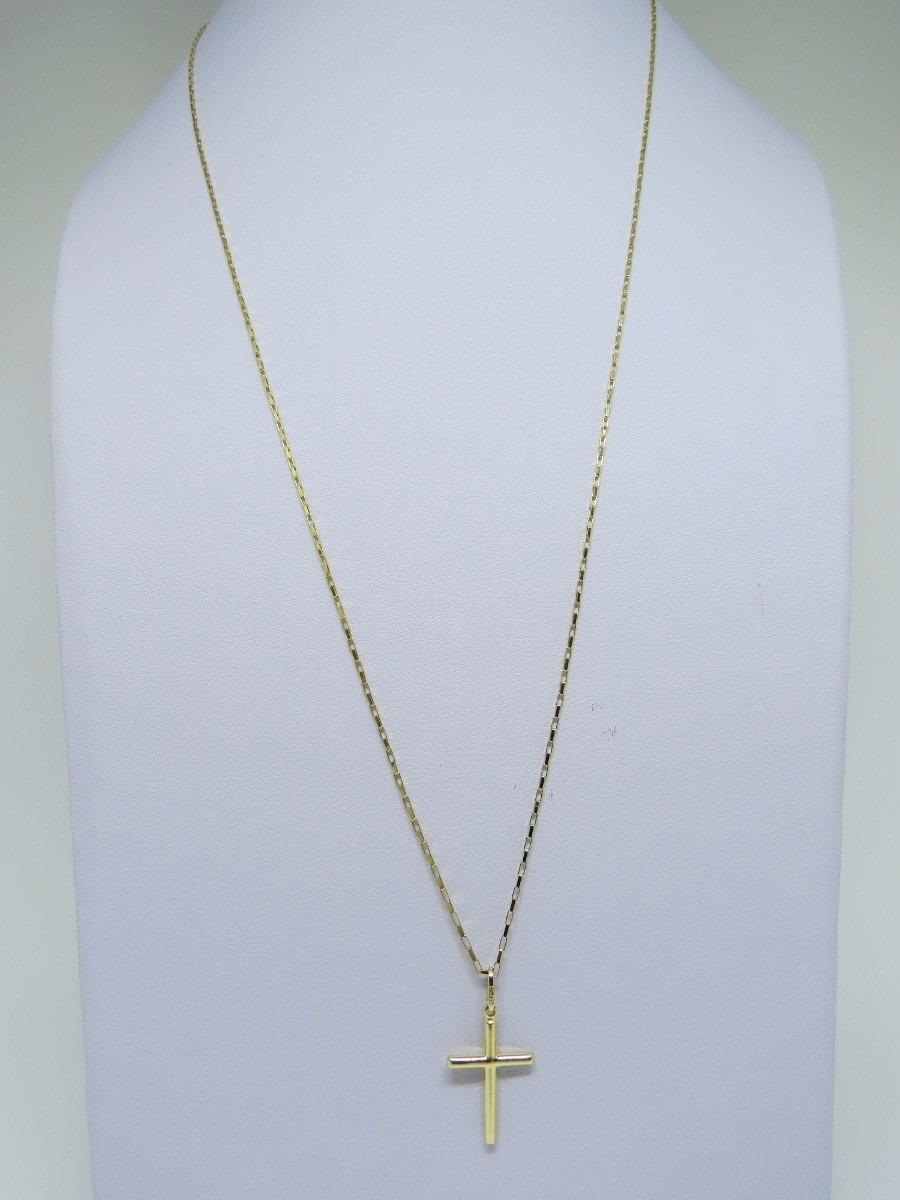 d1c32504b73 Cordão Corrente 70cm + Pingente Cruz Crucifixo Ouro 18k - R  710