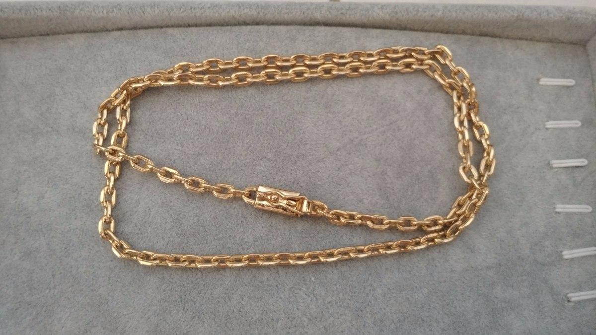f2d7ea43139 cordão corrente cartier 60cm banhada ouro 18k fecho gaveta. Carregando zoom.