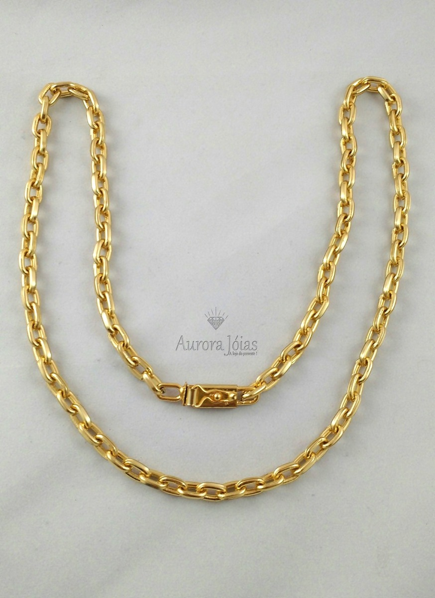 613ce256e72 cordão corrente cartier 60cm masculina 6mm banhada ouro 18k. Carregando  zoom.