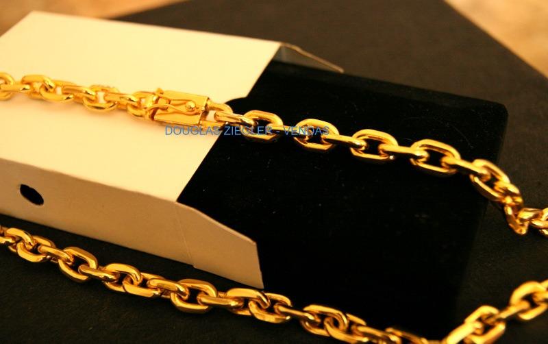 7acab1971e2 cordão corrente cartier banhada ouro 18k - 70cm - 190gramas. Carregando  zoom.