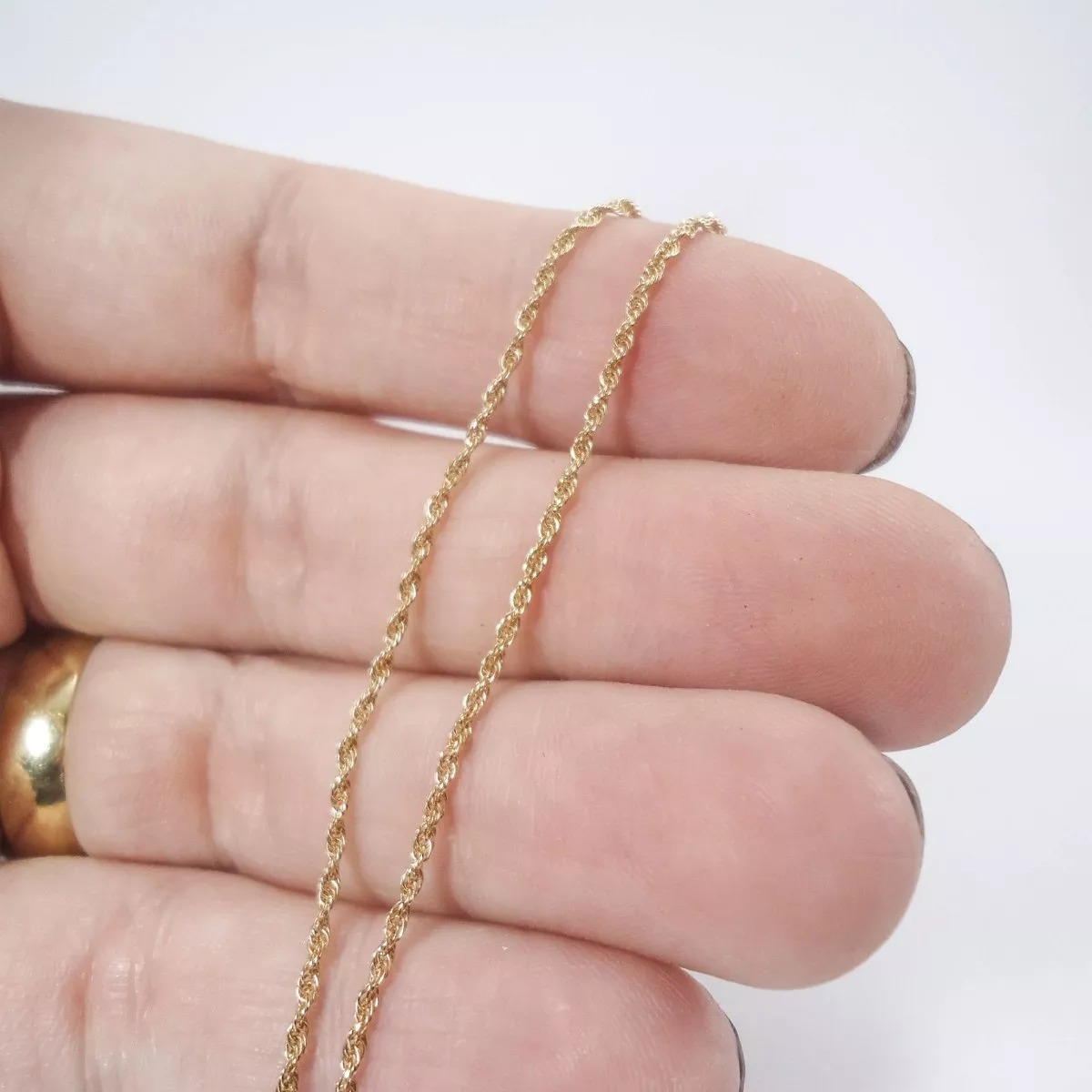 5fff5c740d17c cordão corrente coda 40cm torcido baiano ouro 18k 12xs juros. Carregando  zoom.