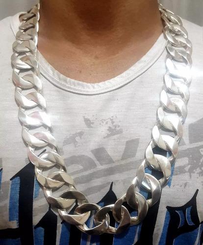 cordão corrente de prata 1x1 a mais grossa masculina 925