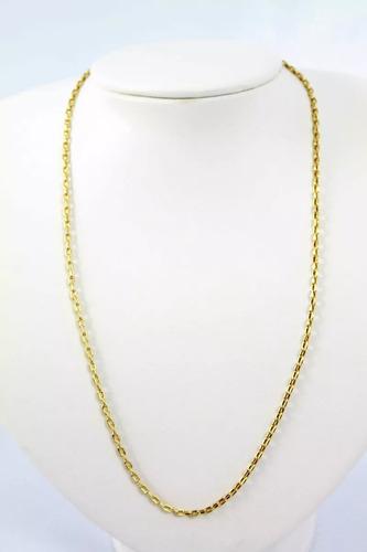 cordão corrente em ouro 18k maciça modelo cartier