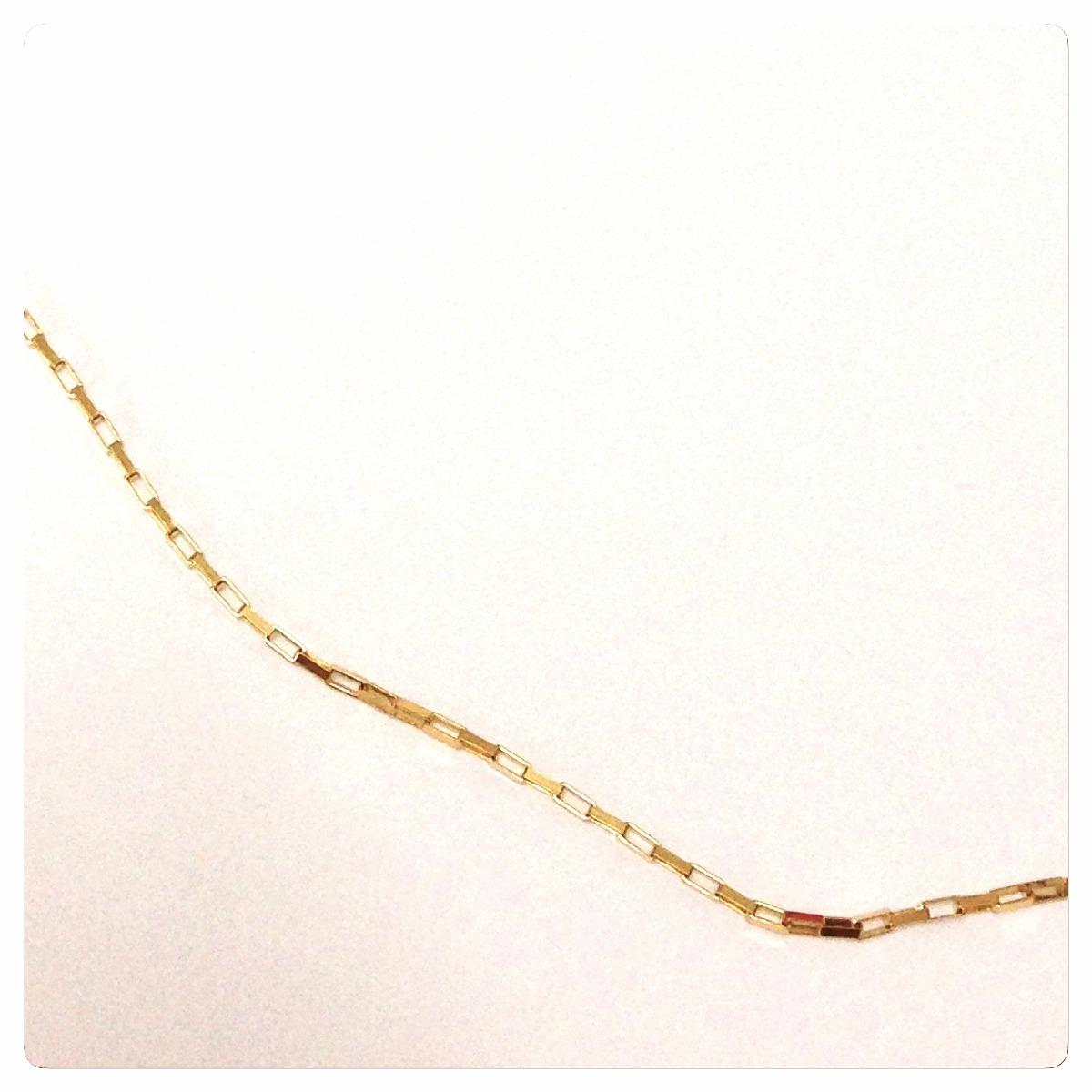 cordão corrente feminina cartier 50 cm 1.1 grs joia ouro 18k. Carregando  zoom. 0d1179a8c8