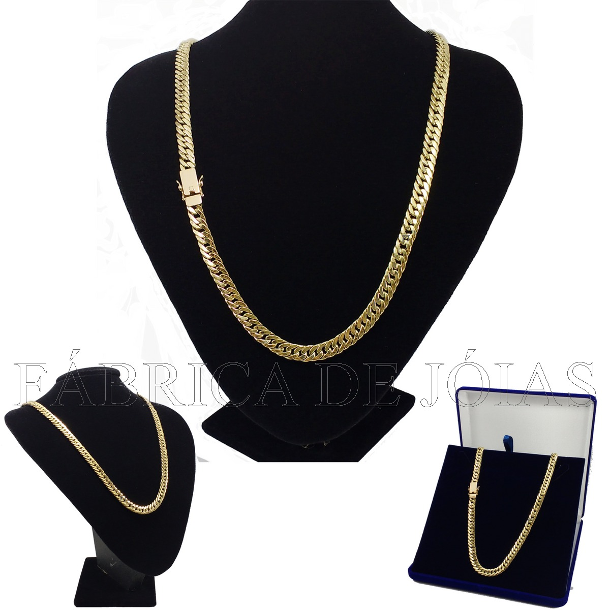 c02c336312161 cordão corrente grumet duplo 30 gramas de ouro 18k 750 oco. Carregando zoom.