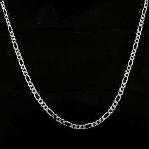 cordão corrente italiana 3 em 1 4.5mm x 70cm em prata 925