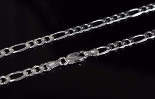 cordão corrente italiana 3 em 1 5.5mm x 60cm em prata 925