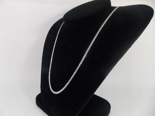 cordão corrente italiana grumet 60 cm 3 mm em prata 925