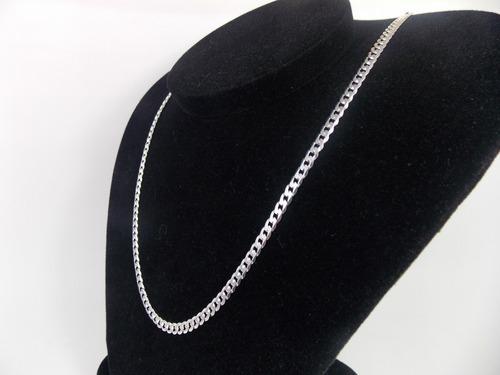 cordão corrente italiana grumet em prata 925 60cm + pulseira