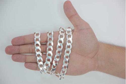 cordão corrente italiana masculina grumet em prata 925