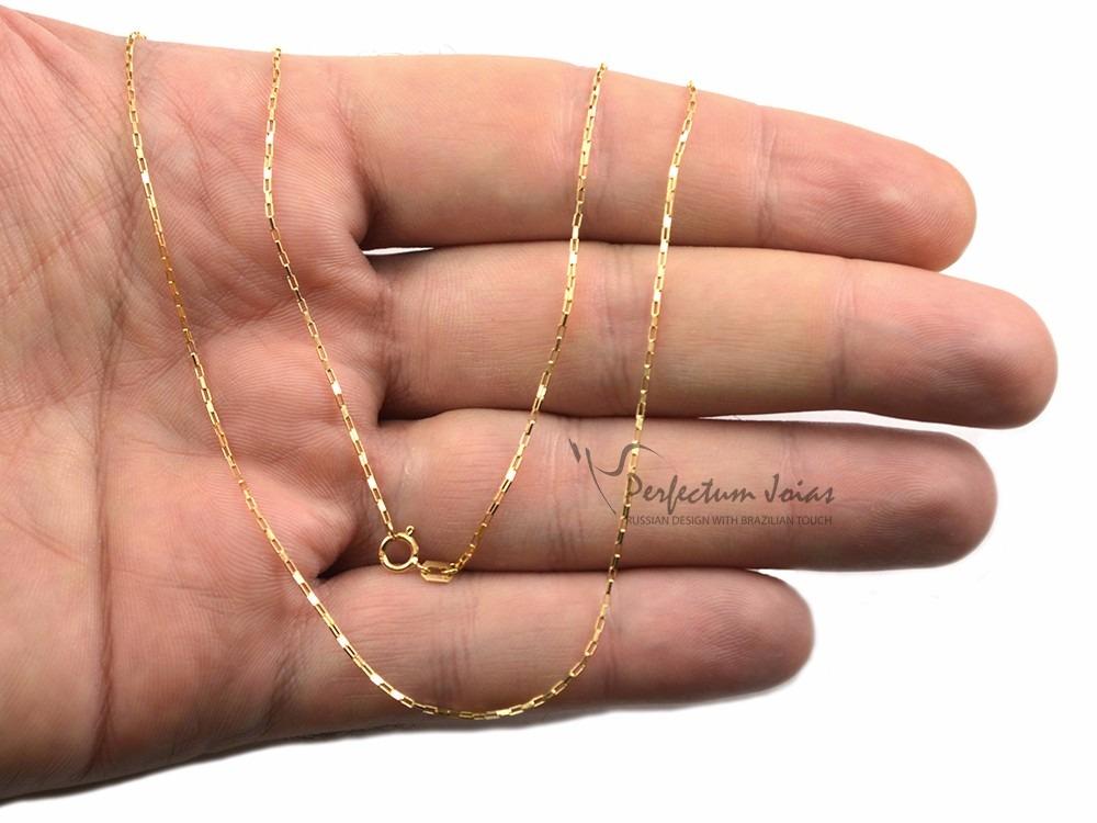 1b9fcbe1dca cordão corrente masculina cartier quadrado 60cm em ouro 18k. Carregando  zoom.