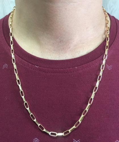 cordão corrente masculina grosso ouro 18k 60cm
