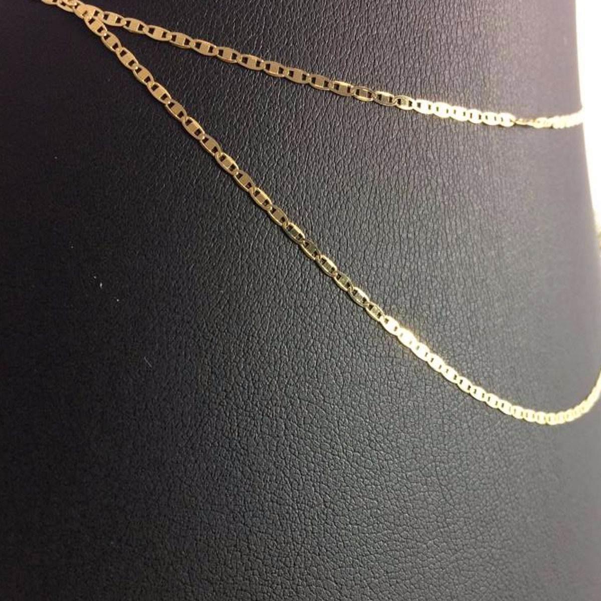 cordão corrente ouro 18k 60cm piastrine + pingente são jorge. Carregando  zoom. fc585cf3e6