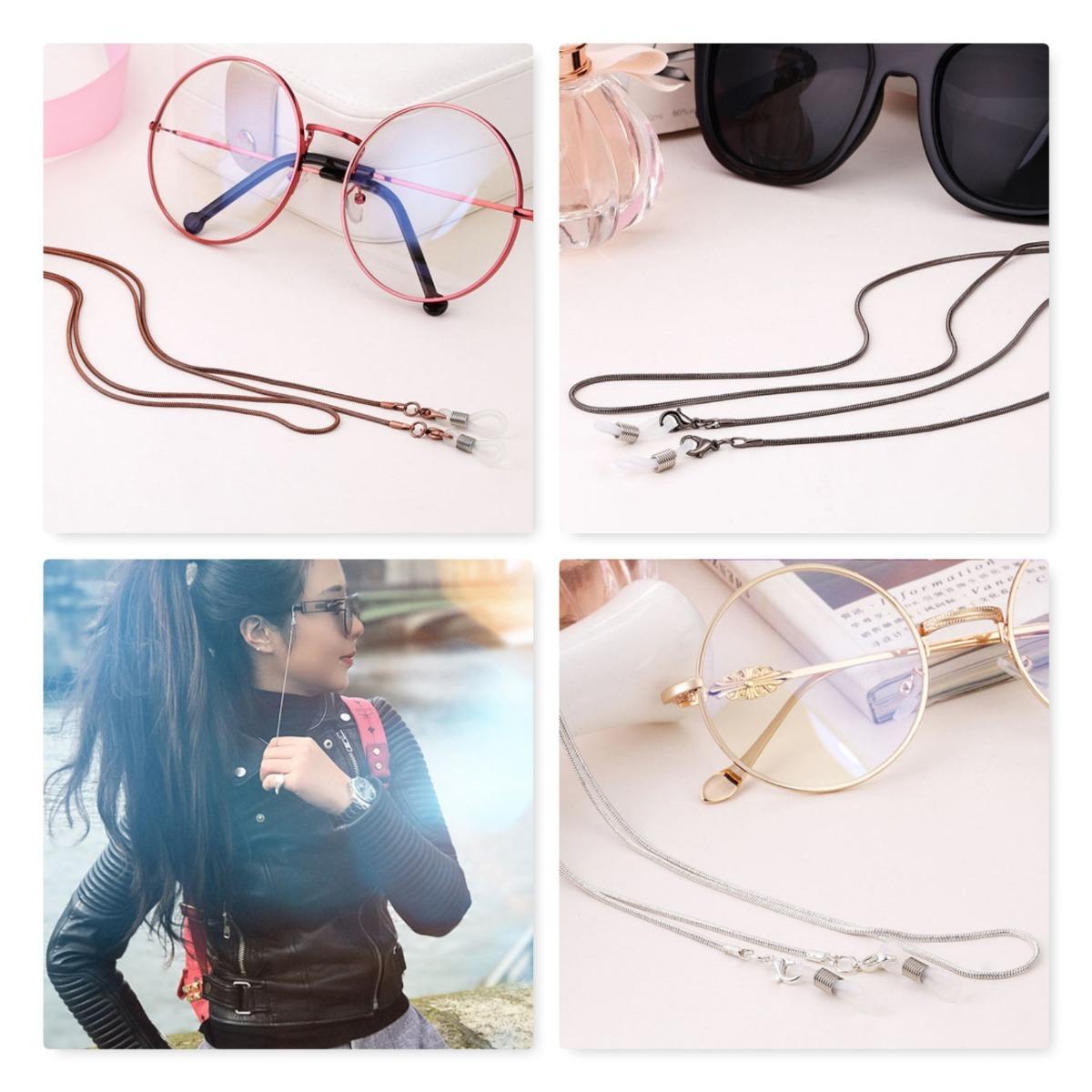 cordão corrente p  óculos salva óculos correntinha em cobre. Carregando  zoom. 811b8744af