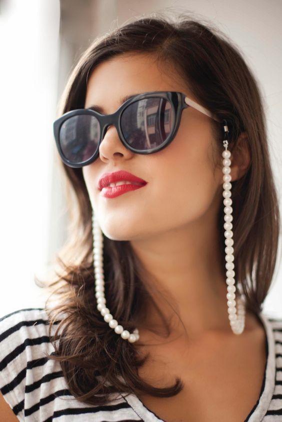 cordão corrente para óculos salva óculos correntinha perola. Carregando  zoom. b03467a4e2
