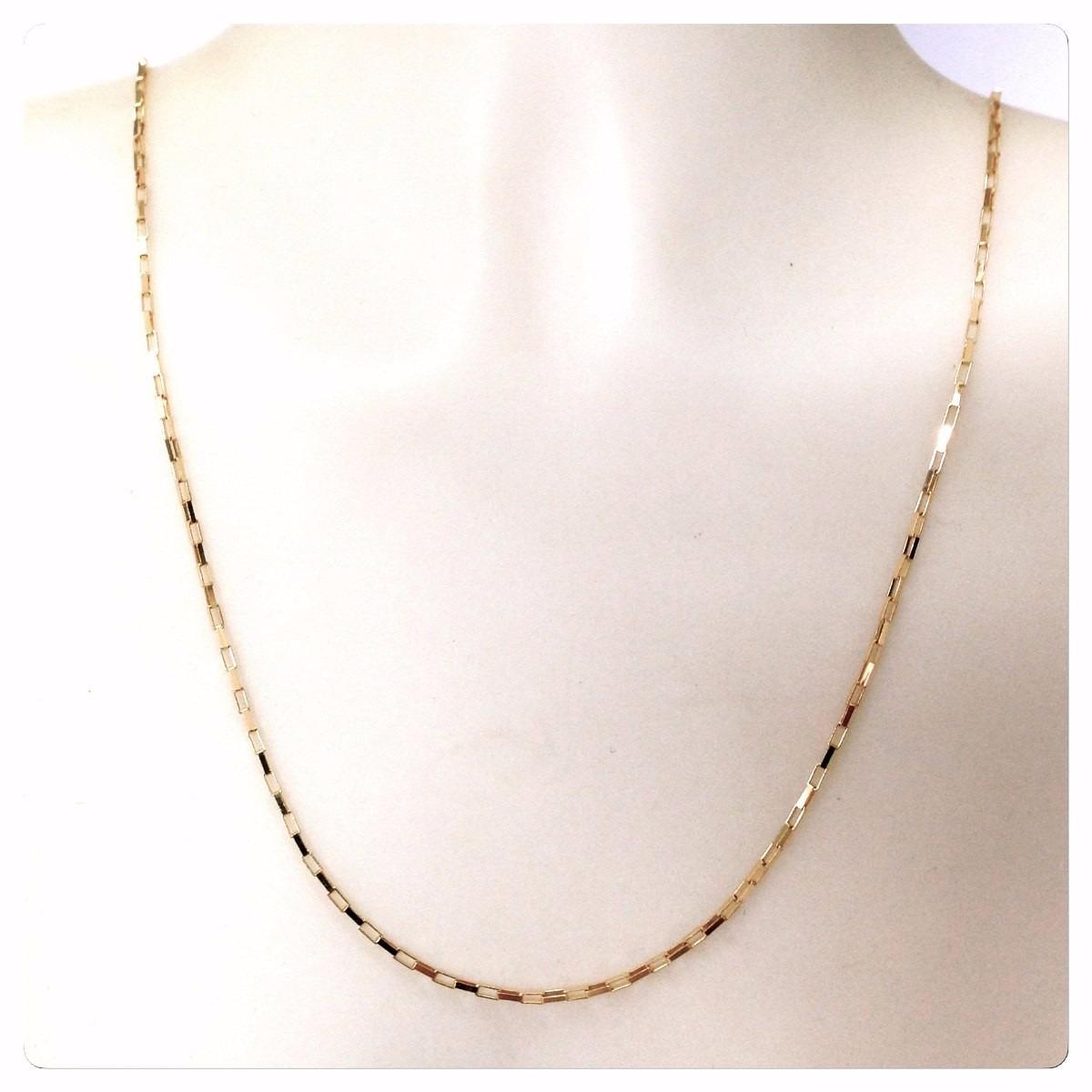 bfdea563e45 cordão corrente veneziana elo longo masculino em ouro 18k750. Carregando  zoom.