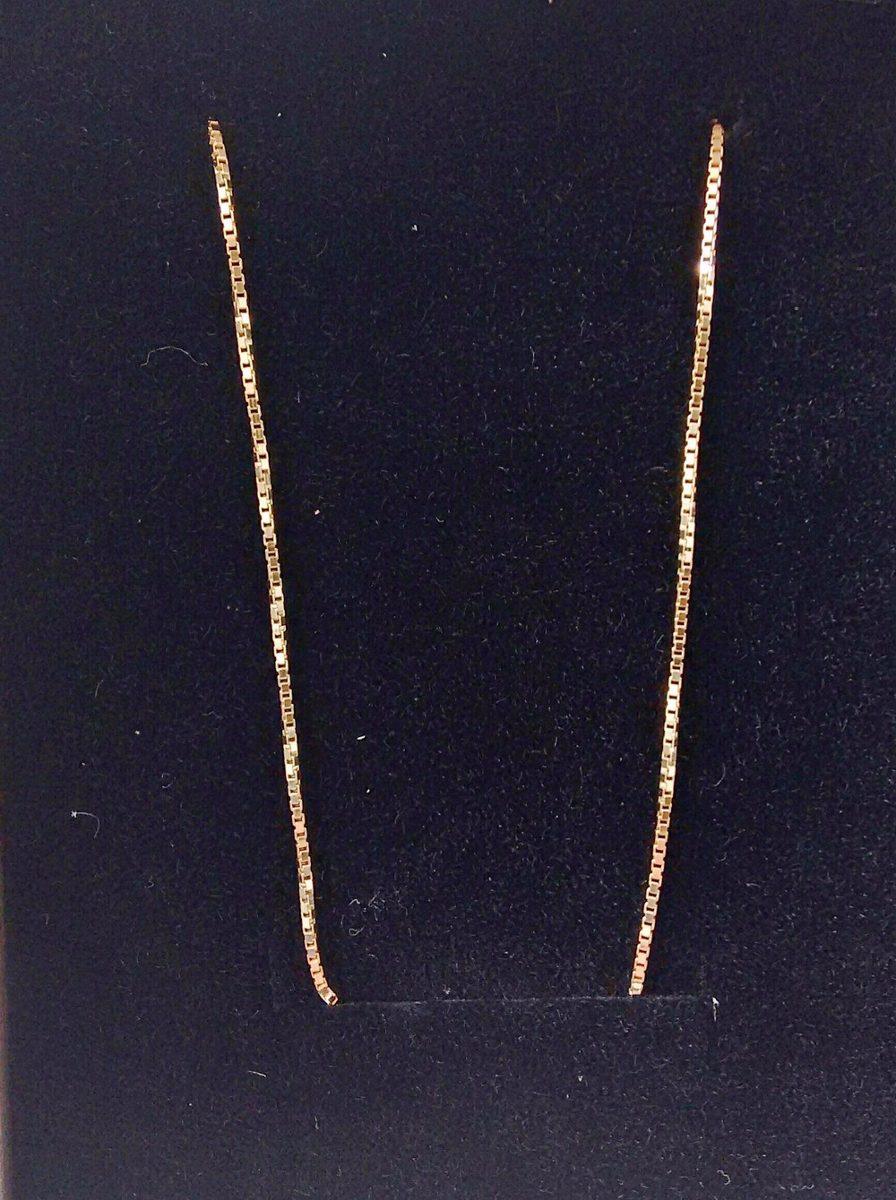 2154306340237 cordão corrente veneziana ouro 18k 50cm 1mm 3 gr. Carregando zoom.