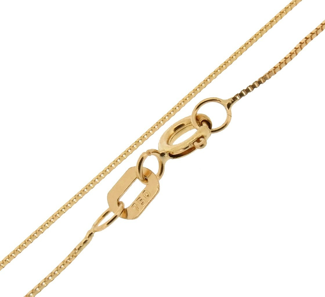 Cordão Corrente Veneziana Ouro 18k 50cm 1mm 3 Gr - R  844,00 em ... e62e54a048