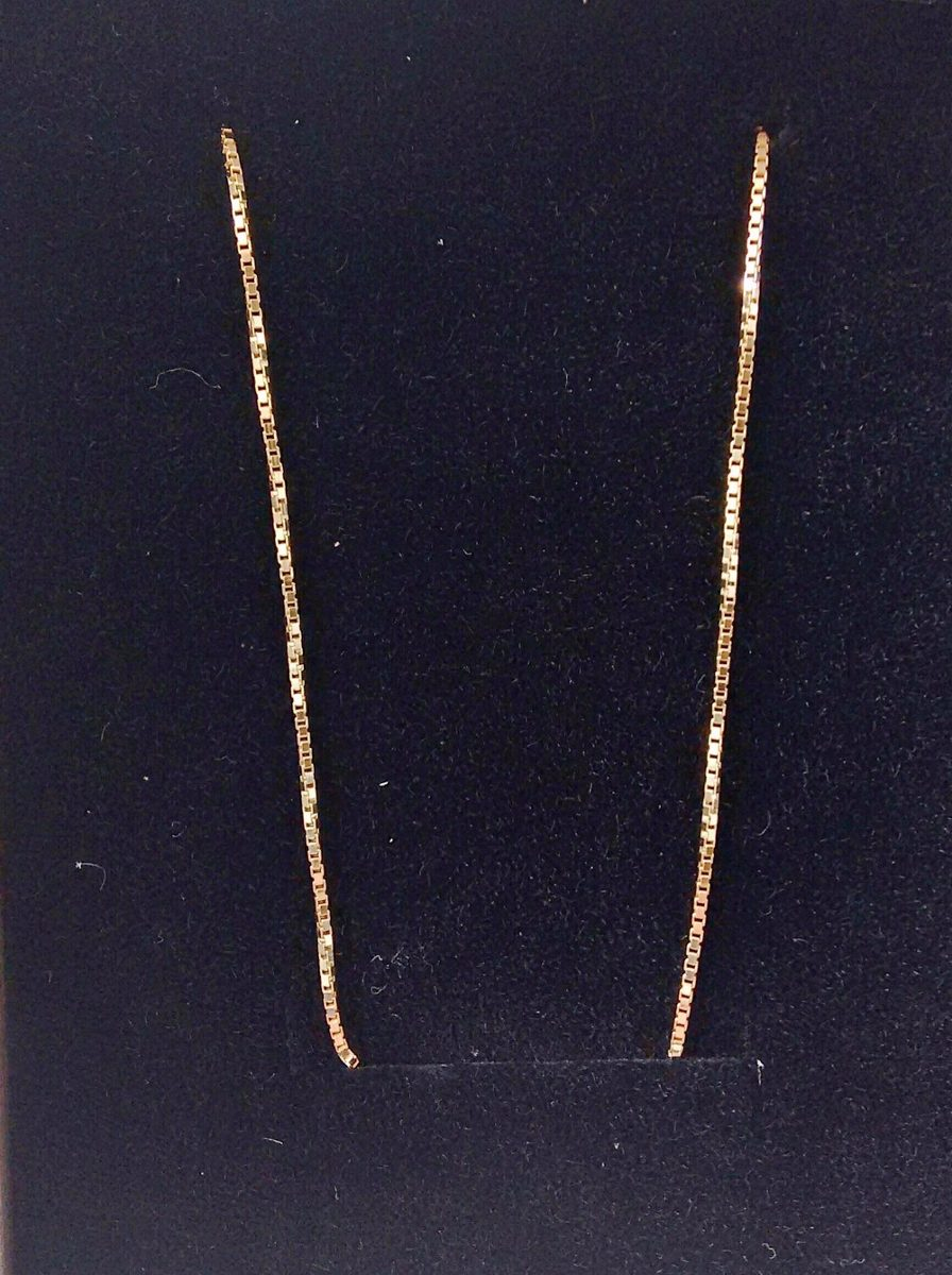 Cordão Corrente Veneziana Ouro 18k 60cm 1mm 4,5 Gr - R  1.129,00 em ... 99b871ab7f
