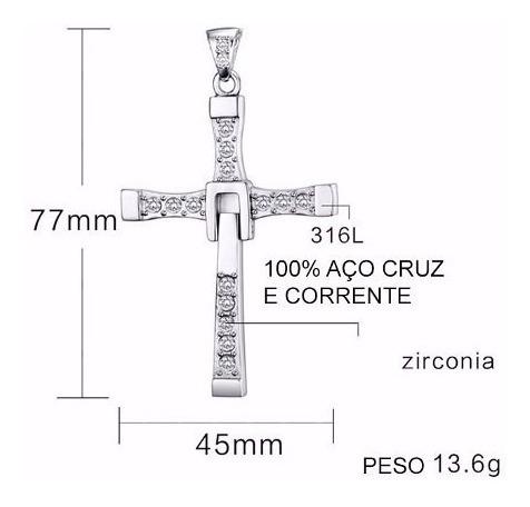 cordão cruz dominic toretto velozes  furiosos 925 prata t14