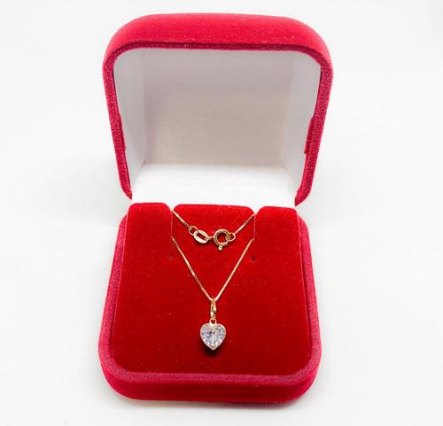 cordão de 60 cm e pingente coração joia ouro 18k certificado
