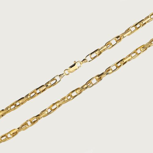 cordão de ouro18k masculino cadeado 60cm 10,75gr