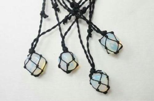 cordão de pedra artesanal