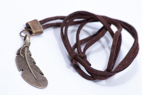 cordão de pena - ref: c028