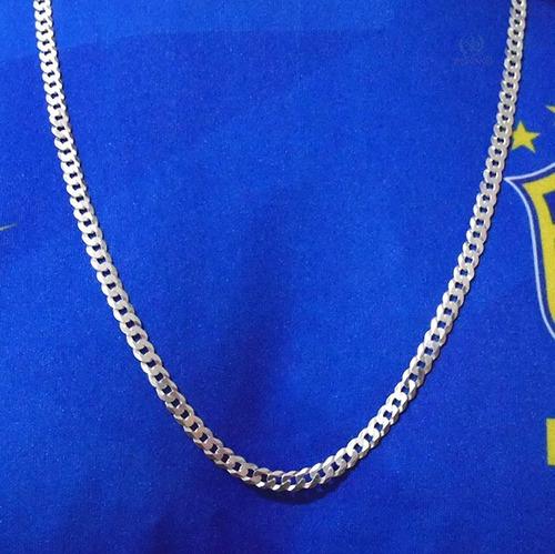 cordão de prata 925 grumet 70cm masculino italiana maciça