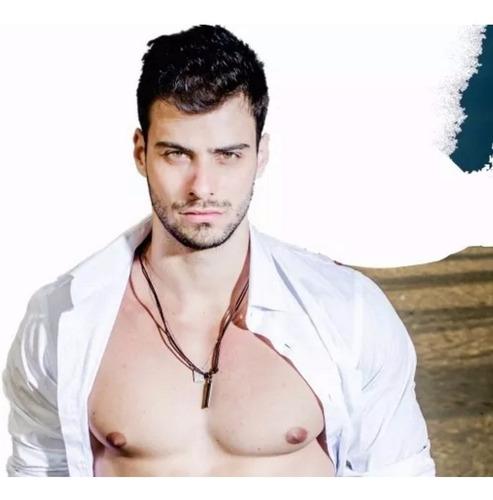 cordão diesel abridor colar masculino couro ajustável moda